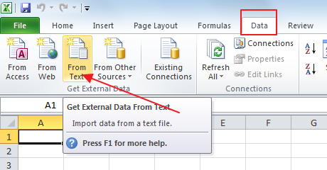 Import CSV into Excel