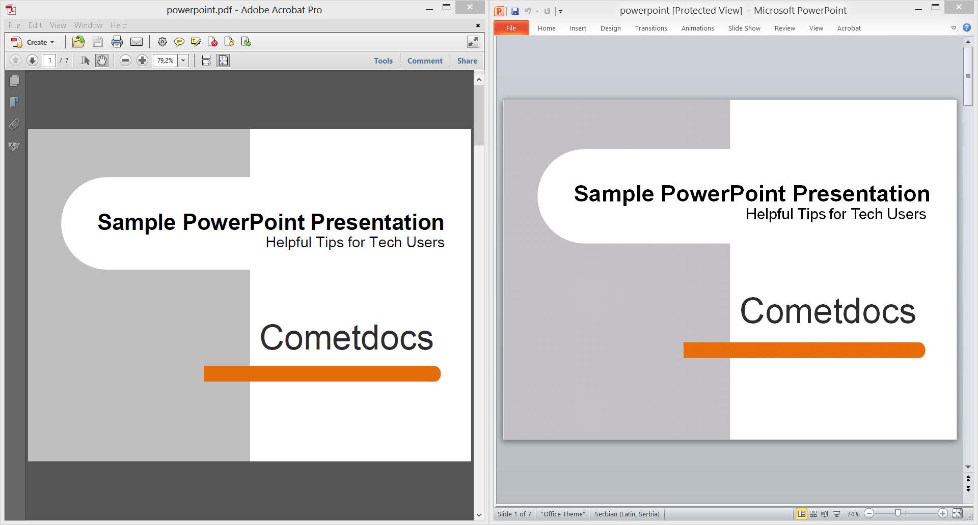 Conversion examples | Cometdocs